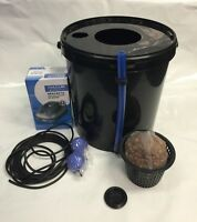 2 X Bubbler Oxy Pot DWC System 20 Litre Inc Clay Pebbles & Air Pump Kit