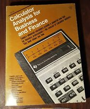 Texas Instruments Calculator Analysis For Business and Finance 1977 manual