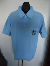 Nos Vtg Mens 80s Deadstock Pique Knit Ital Chic Shirt Xl Concord Bocce Club