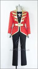 Free shipping Kaizoku Sentai Gokaiger Gokai Red Cosplay Costume