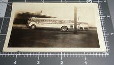 1940's Greyhound Retro BUS NEON SIGN Streamline Design Vintage Snapshot PHOTO