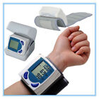 Digital LCD Wrist Blood Pressure Monitor&Heart Beat Rate Pulse Meter MeasureCX