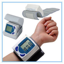 Digital LCD Wrist Blood Pressure Monitor&Heart Beat Rate Pulse Meter Measure EN