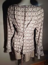 ⭐️MEXX Luxus Bluse, Tunika Carmen-Piraten Stil Gr. 42 viele Details NEU !