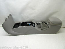 2006 VOLVO S40 CENTER CONSOLE TRIM CUP HOLDERS W/ ARM REST GRAY OEM 05 06 07