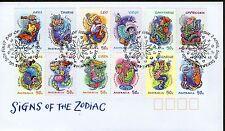 AUSTRALIA FDC 2007 SIGNS OF THE ZODIAC