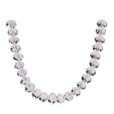 Loose Crystal Glass Bulk Rondelle White Wholesale Making 3-16mm Faceted Beads