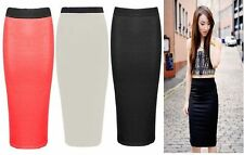 Hot ! Sale ! Latest Midi Skirt Pencil Bodycon Slim Stretchy Wiggle Skirts 6 - 18