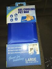 New listing 19.75� X 25.5� Large Big Blue Cool Gel Pet Dog Mat Pad For Dogs