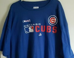 Men's Authentic Majestic MLB Chicago Cubs Short Sleeve Shirt  4XL NEW with tags