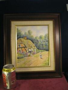 Framed Porcelain  Plaque   Hand Painted & Signed Ex Royal Worcester  G Delaney