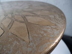 "Coffe table "" Вrass flover"", brass table, metall table"