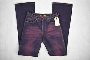Jeans Indian Rag's Uomo A Zampa D'elefante Svasato Colore Viola Tg W 27-28-29