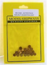 Model Shipways Fittings MS0340 Deadeyes, Walnut 3/16'' (5mm). 20 Per Pack