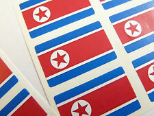 Mini Sticker Pack, Self-Adhesive North Korea Flag Labels, FR157