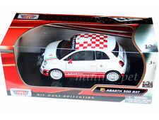 MOTORMAX 73379 FIAT ABARTH 500 R3T 1/24 DIECAST WHITE