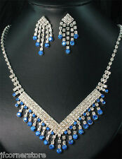 NEW BRIDAL/WEDDING  Crystal/Diamonte Necklace Set **164** ABSOLUTELY BEAUTIFUL