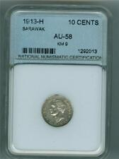 SARAWAK 1913-H 10 CENTS KM-9 AU DETAILS CLEANED