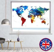 Carte du monde Pinceau style imprimé photo store occultant