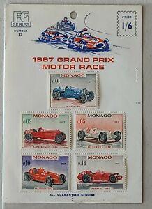 Monaco Stamps 1967 Grand Prix Motor Race Mint Hinged
