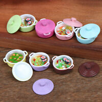 Dollhouse Kitchen Accessories Miniature 1:12 Mini-color soup pot 3C