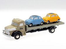 Schuco Piccolo Krupp Pritschen LKW mit zwei Fiat 500  # 450567400