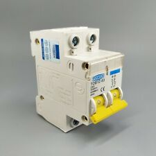 2P DC 600V Circuit breaker MCB C curve single pole direct-current fuse for PV