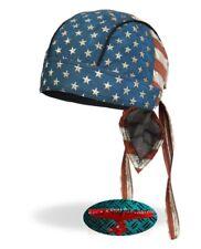 VINTAGE USA Bandana Foulard Bandeau capuche Biker Chopper Cap Motard Harley Indian v2