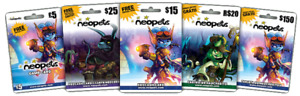 10 Neopets Legit Neocash Cards with 750 NC + 2 Gift Boxes (7,500 NC)