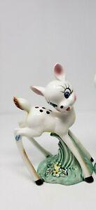 Vtg RARE White Long Leg Bambi Deer Japan Ceramic Porcelain 10'' BIG EYES
