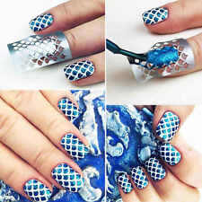DIY 12Tips/Sheet Women Nail Art Manicure Stencil Stickers Nails Stamping Vinyls