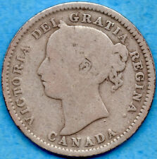 Canada 1898 Obv 6 10 Cents Ten Cent Silver Coin - G/VG