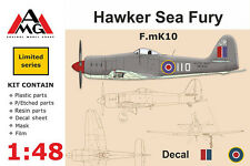 Amg 1/48 modèle kit 48601 hawker sea fury Mk.X raf