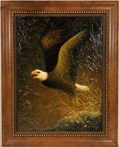 JAY J. JOHNSON 20th-21st c. American WILDLIFE PAINTING American Bald Eagle
