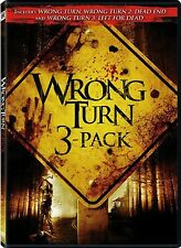 Wrong Turn / Wrong Turn 2: Dead End / Wrong Turn 3: Left for Dead (DVD, 2009)
