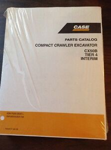 ORIGINAL CASE CX50B CRAWLER EXCAVATOR PARTS CATALOG MANUAL NEW S3PJ00016ZE01NA