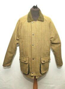 Superb Green Belt Country Wear Green Tweed Shooting Jacket Large Window Pane