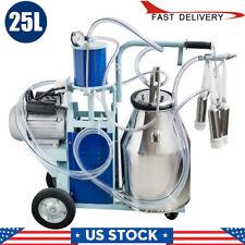 Piston Electric Milker Stainless Steel Bucket Cows Farm Milk Machine Milking Usa