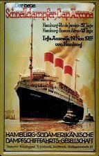 Chapa escudo hamburgo sur-americana schnelldampfer Cap Arcona barco mercante compañía naviera