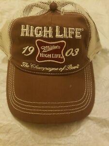 Miller High Life Trucker Hat Champagne Of Beer Miller Coors Summer Beach Bar