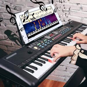 61 Key Electric Digital Piano Musical Beginner Electronic Keyboard Instrument UK