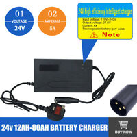 24v 5AMP MOBILITY SCOOTER WHEELCHAIR BATTERY CHARGER FOR 12AH -80AH BATTERIES