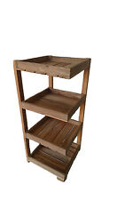 Reclaimed Teak shelf 4 tier Multi-Purpose Display Stand Shelf Home Storage