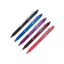 Pilot FriXion Clicker Erasable Gel Pens in Black, Blue, Lavender, Burgundy 5pack