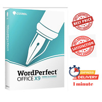 Corel WordPerfect Office X9 ✅ | LIFETIME KEY ACTIVATION 🔑 | FAST DELIVERY 📩