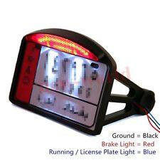 motorcycle Black license plate bracket Brake LED Tail Light For Harley Chopper