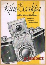1936 Ihagee Kine Exakta magic eye - original folder - extremely rare
