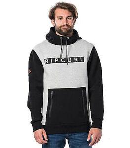 New Rip curl Mens Search Fleece Pullover Hoodie Technical Riding Sweatshirt SZ M