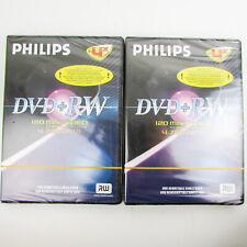 PHILIPS DVD+RW BLANK DISC 4.7GB - 120 MINS 1-4x SPEED NEW & SEALED x2