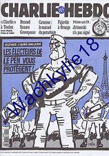 Charlie Hebdo n°169 du 13/09/1995 Vigipirate Armée Militaire Le Pen Cabu Toulon